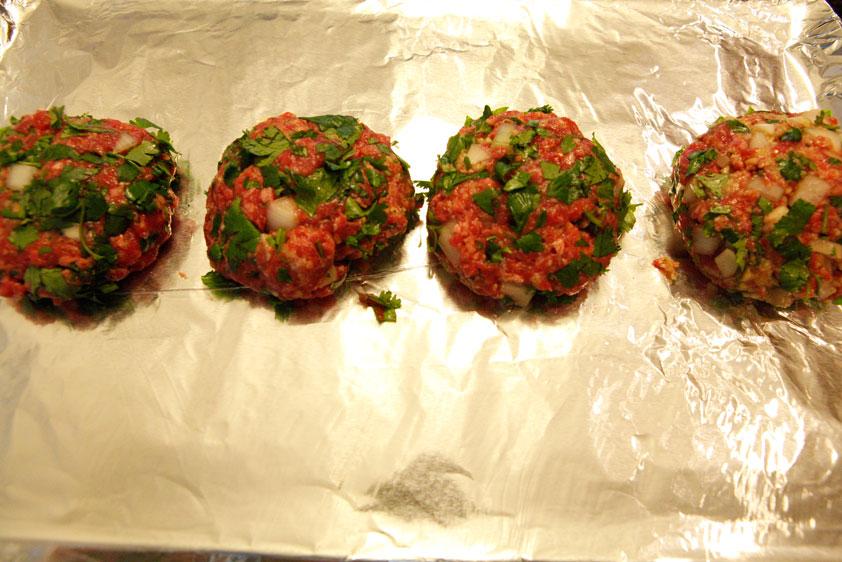 Cilantro Beef Burgers