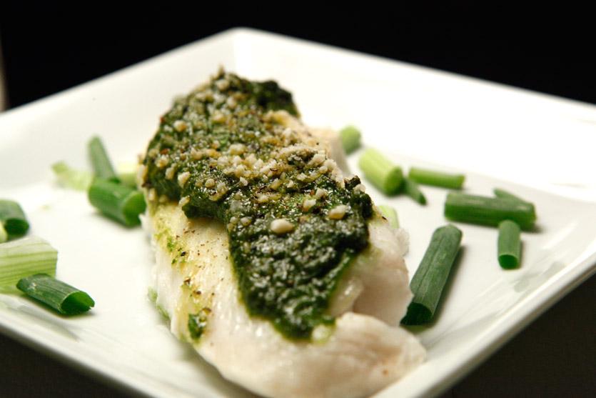 Pesto tilapia by for Pesto fish recipes