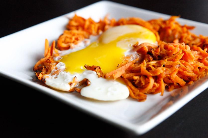 Paleo Sweet Potato Hash with Sunny Side Up Egg