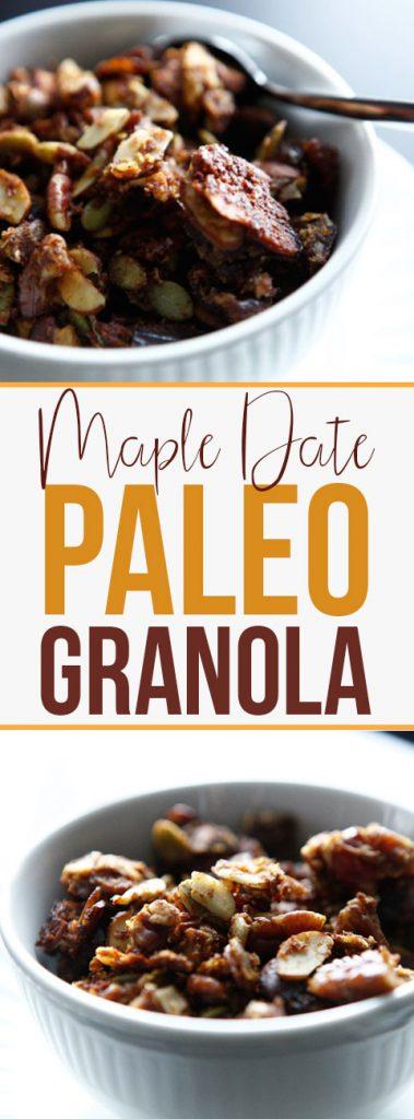 Maple Date Paleo Granola