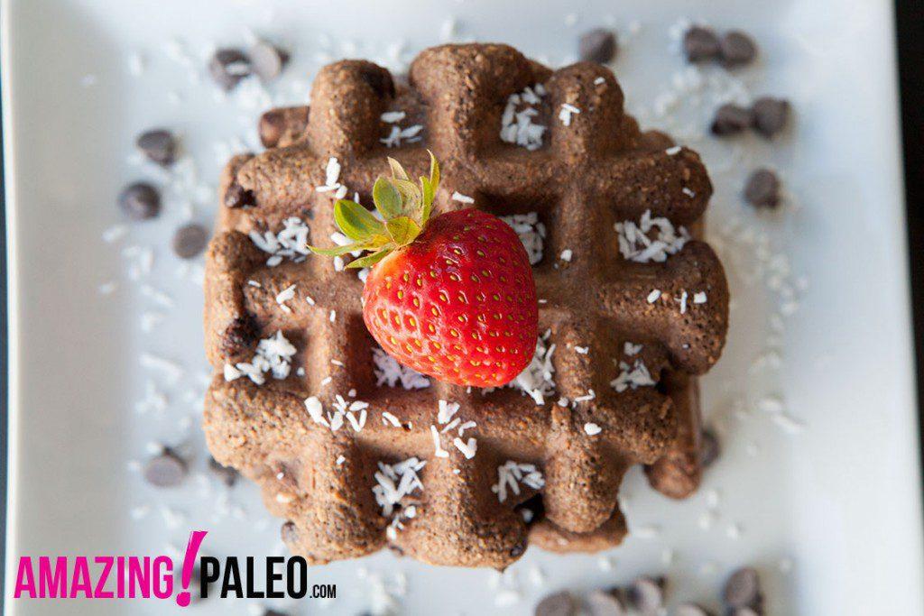 Paleo Chocolate Chip Waffles