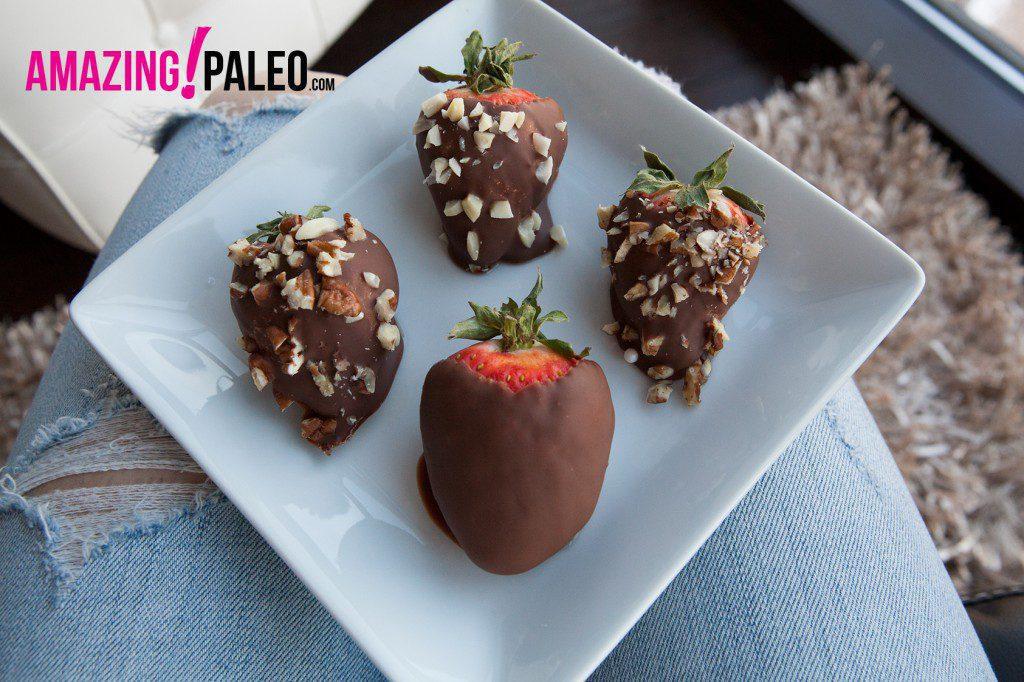 Paleo Chocolate Covered Strawberries