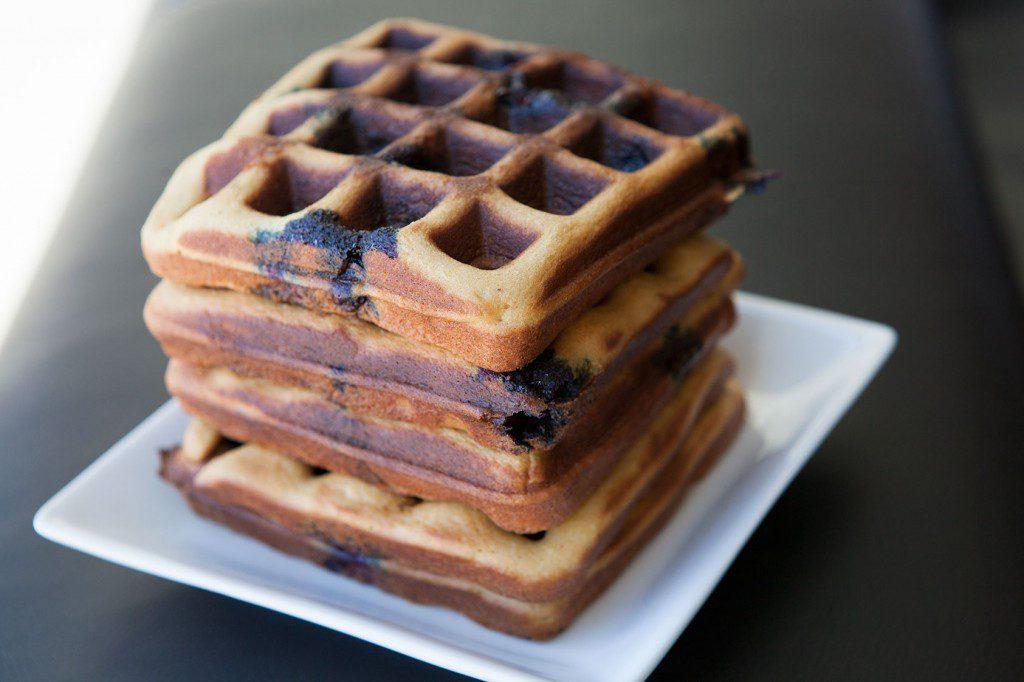 Blueberry Cashew Waffles