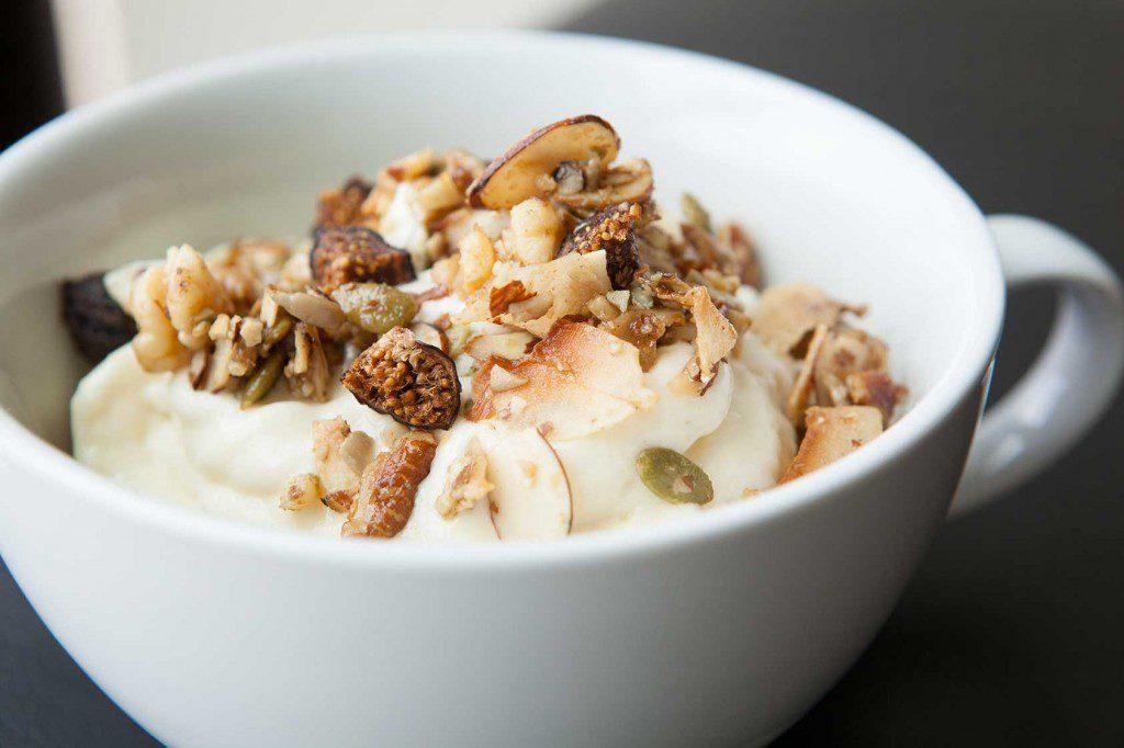 29 Paleo Treat Recipes- Mango Pineapple Delight with Hippie Granola