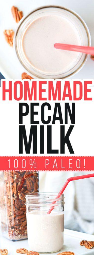 How To Make Homemade Pecan Milk