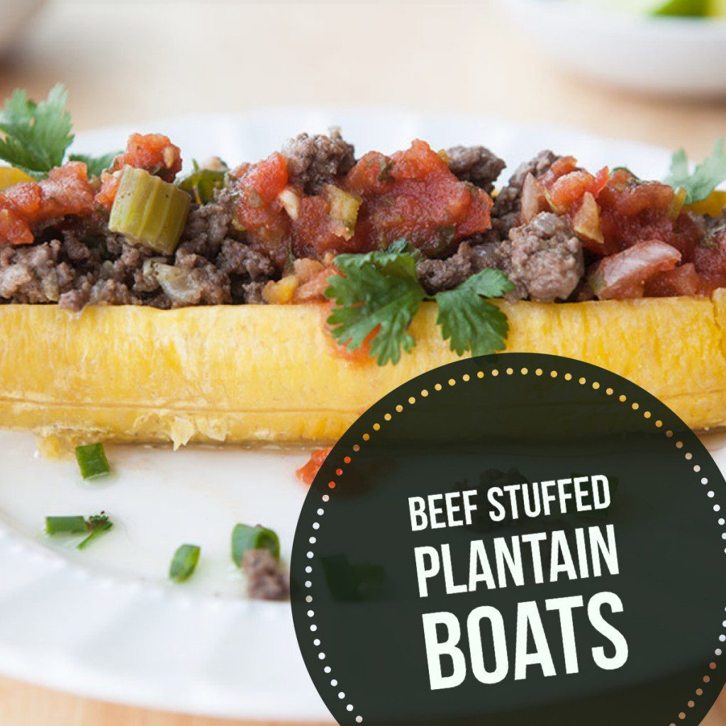 Plantain Boats with Spicy Beef