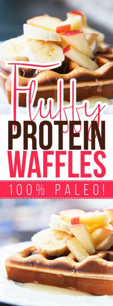 Fluffy Protein Waffles
