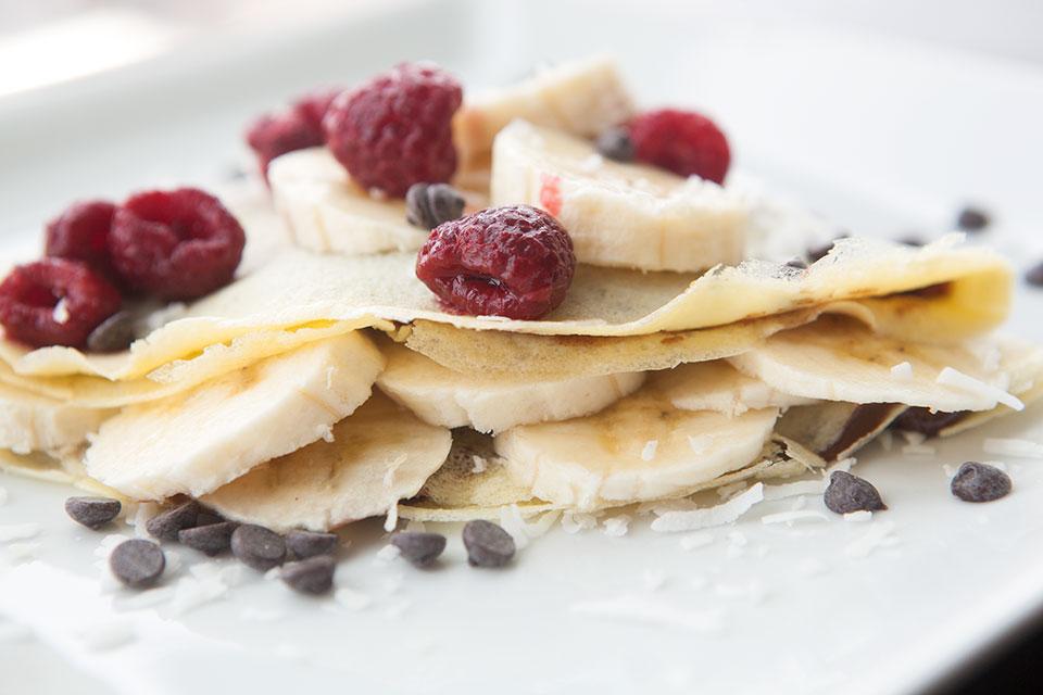 Chocolate Banana Paleo Crepe