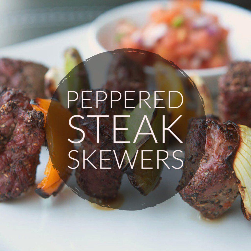 Peppered Steak Skewers