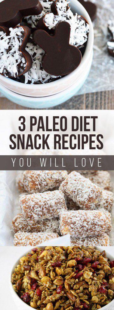 Amazing Paleo Diet Recipes - 3 paleo snacks