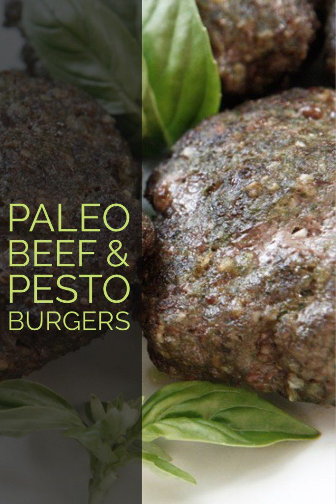 Paleo Beef and Pesto Burgers