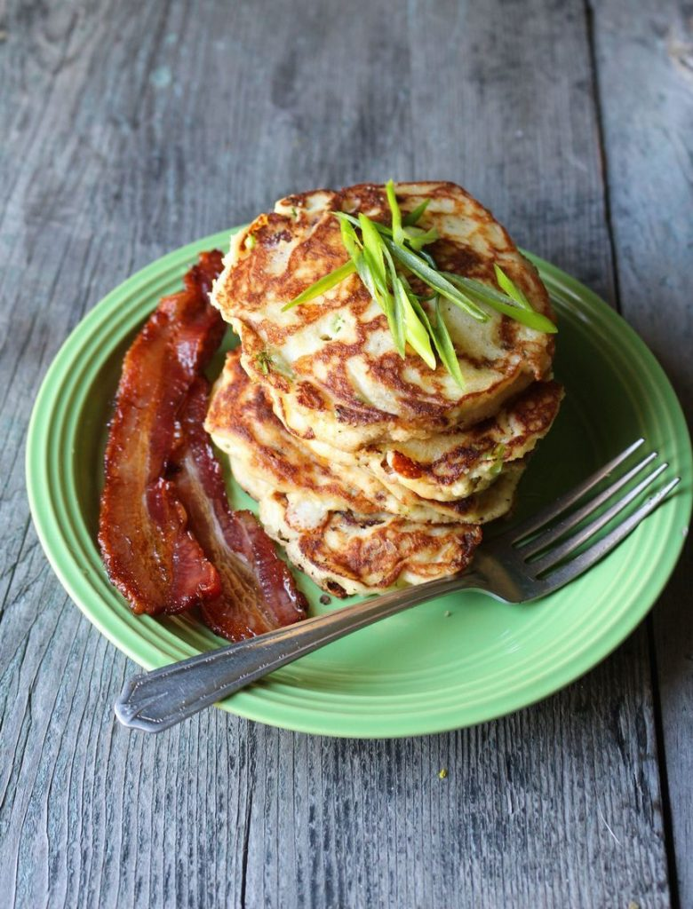 Bacon and Scallion Paleo Pancakes