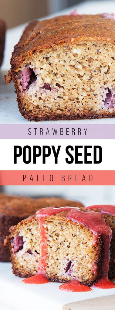 Strawberry Poppy Seed Paleo Bread