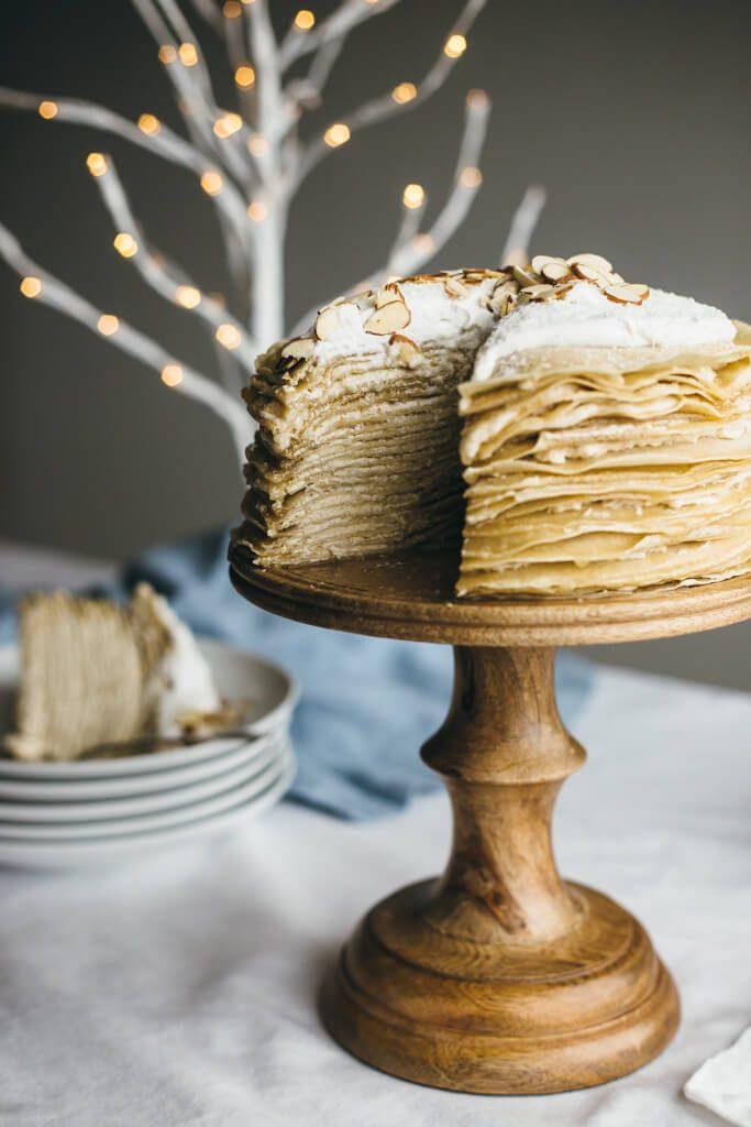 COCONUT AMARETTO CREPE CAKE