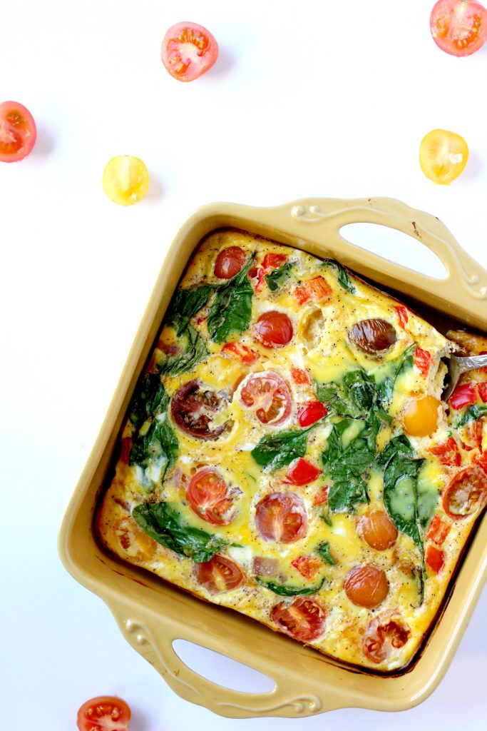 DAIRY FREE FRITTATA WITH HEIRLOOM TOMATOES