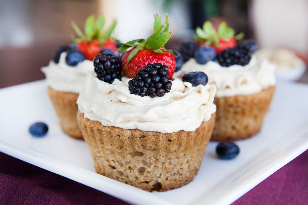 Paleo Vanilla Cupcakes with Whipped Buttercream