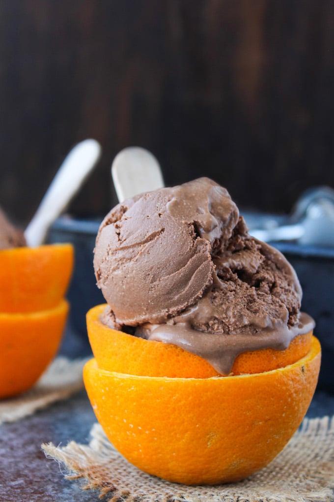 CHOCOLATE ORANGE ICE CREAM