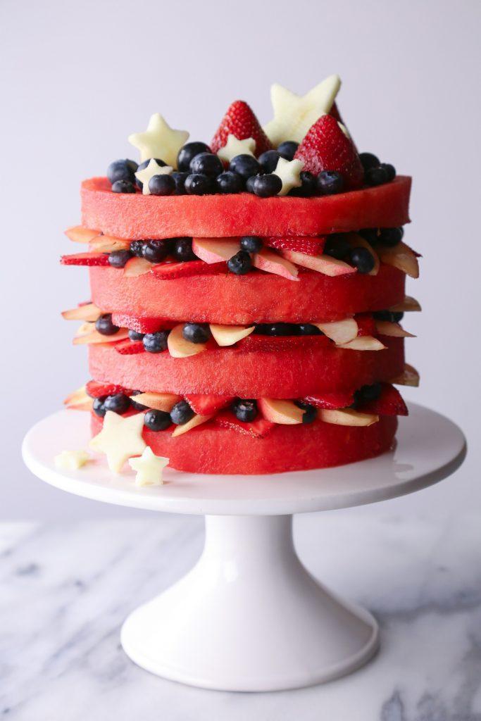 FRESH WATERMELON LAYER CAKE