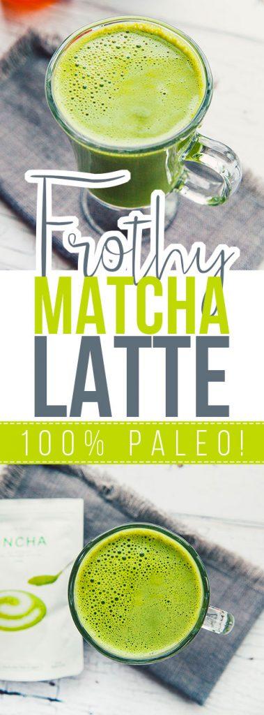 Frothy Matcha Latte