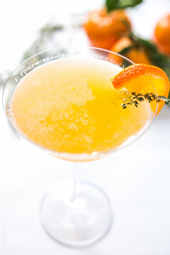 TANGERINE AND THYME MARTINI