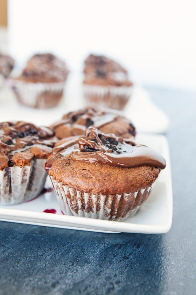 Dark Chocolate & Blackberry Paleo Cupcakes