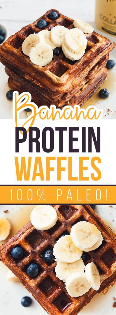 Banana Protein Paleo Waffles