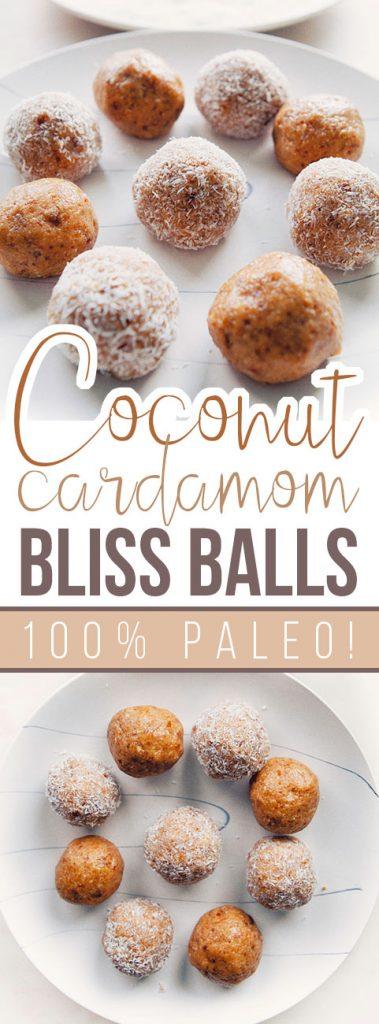 Coconut Cardamom Bliss Balls