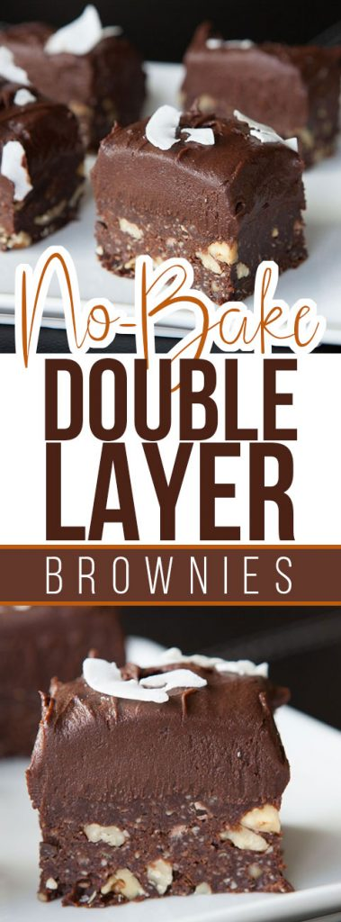 No Bake Double Layer Brownies