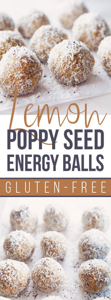 Lemon Poppy Seed Energy Balls