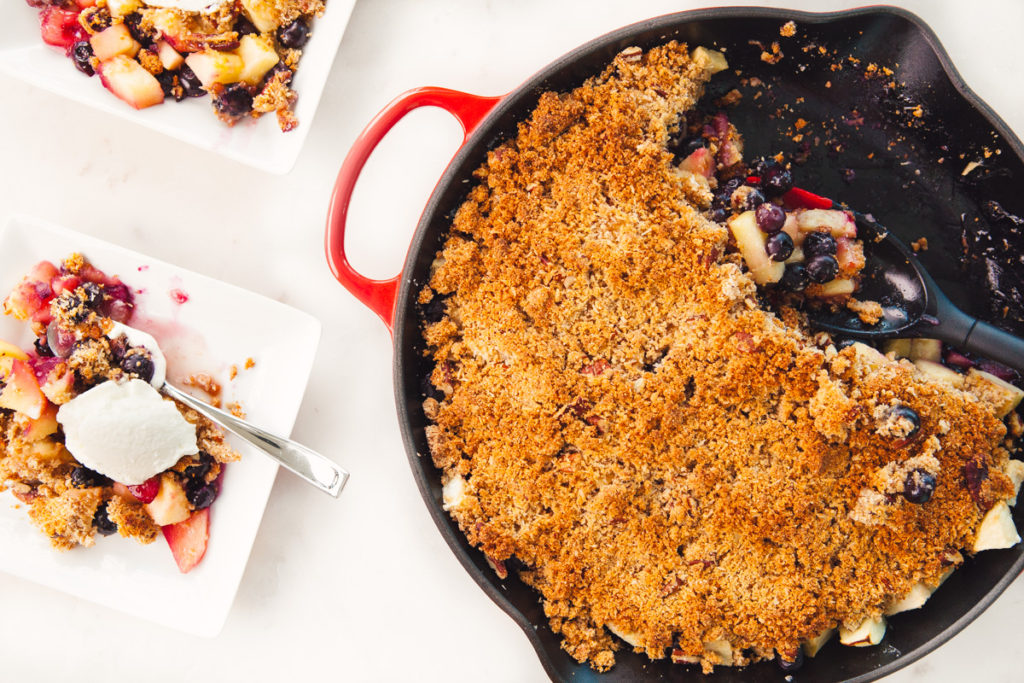 Whey Protein Apple & Blueberry Crisp