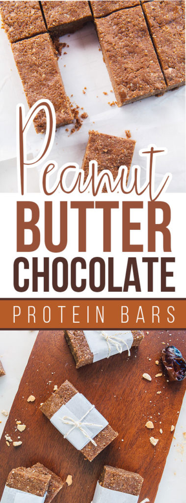 Peanut Butter Chocolate Plant Protein Bars