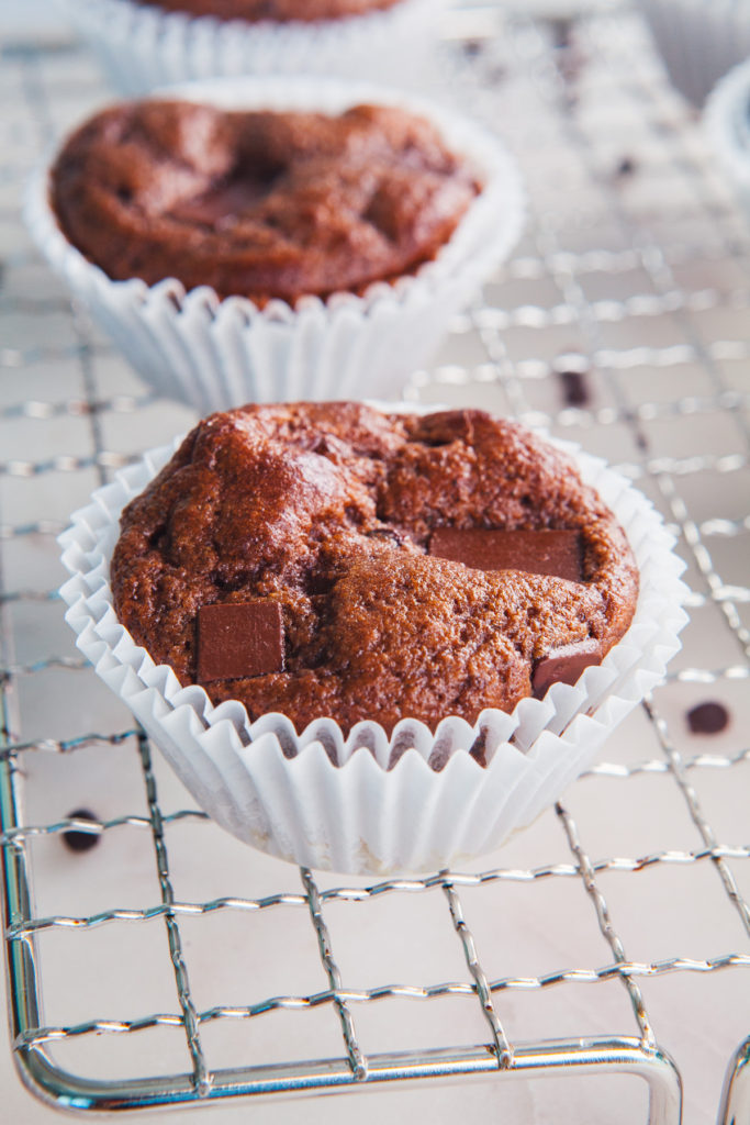 Triple Chocolate Paleo Protein Muffins