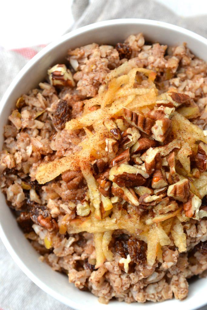 Apple & Cinnamon Cauliflower Porridge