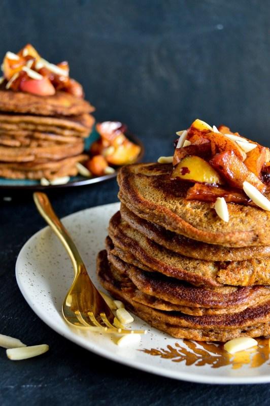Fluffy Apple Pie Spiced Pancakes