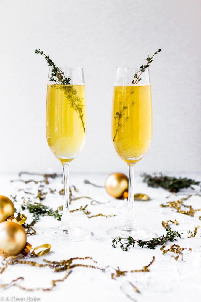 Ginger Apple Champagne Cocktail