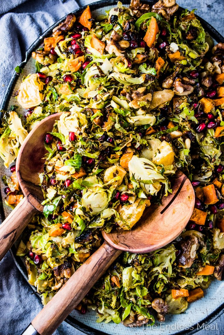 Late Autumn Shaved Brussels Sprout Salad
