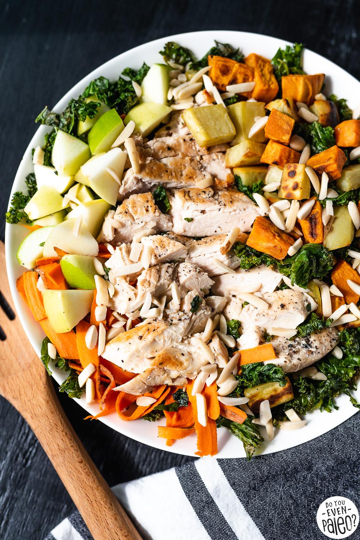 Warm Kale, Apple, and Sweet Potato Salad