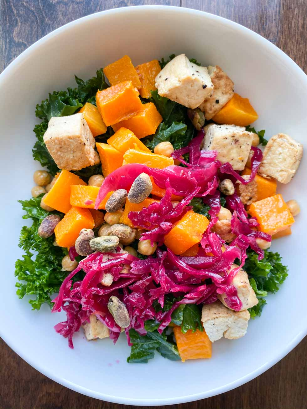 Butternut Squash and Kale Plant Based Bowl