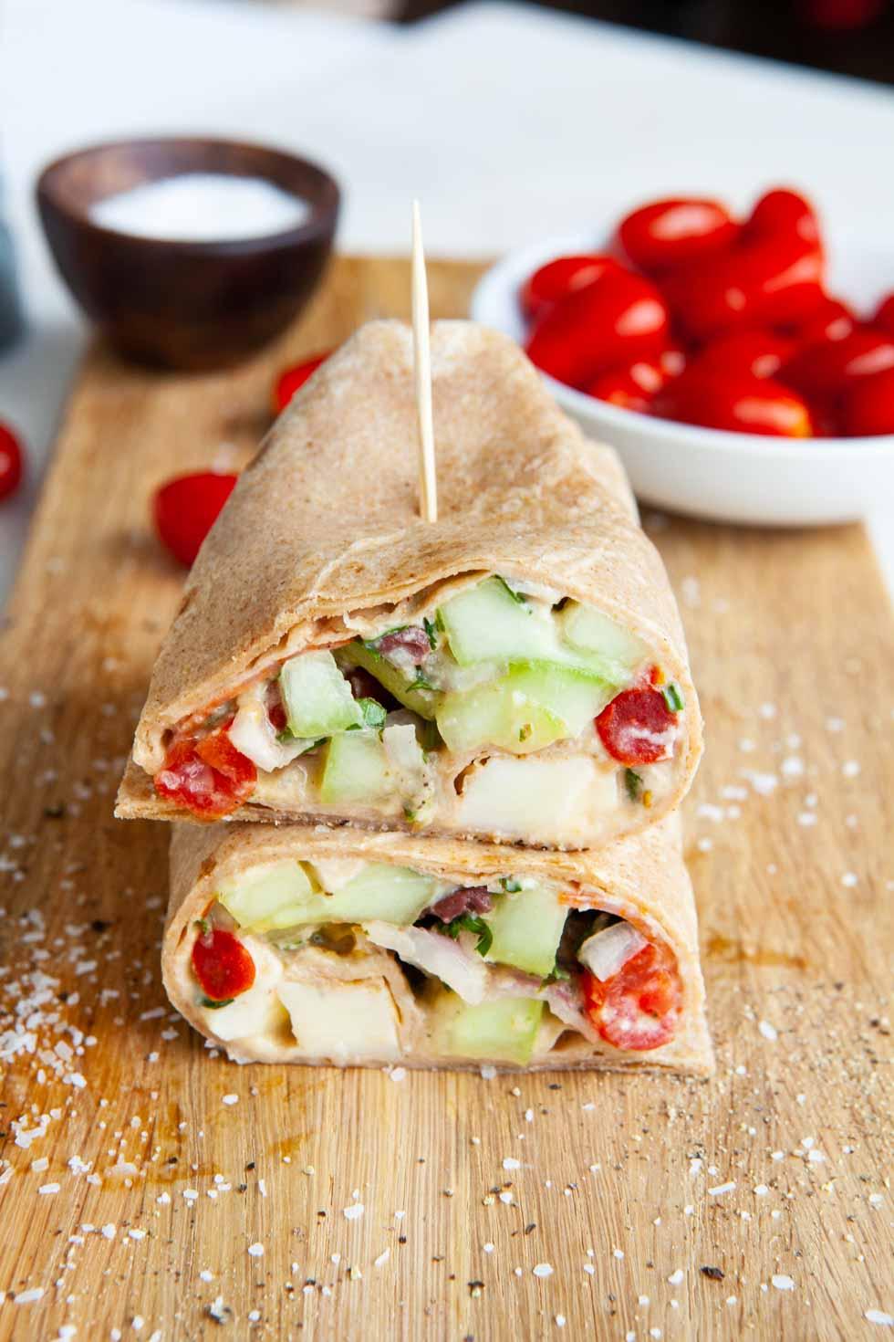 Greek Hummus Wraps