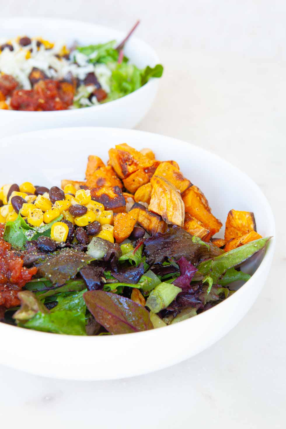 Sweet Potato Mexican Salad Bowls