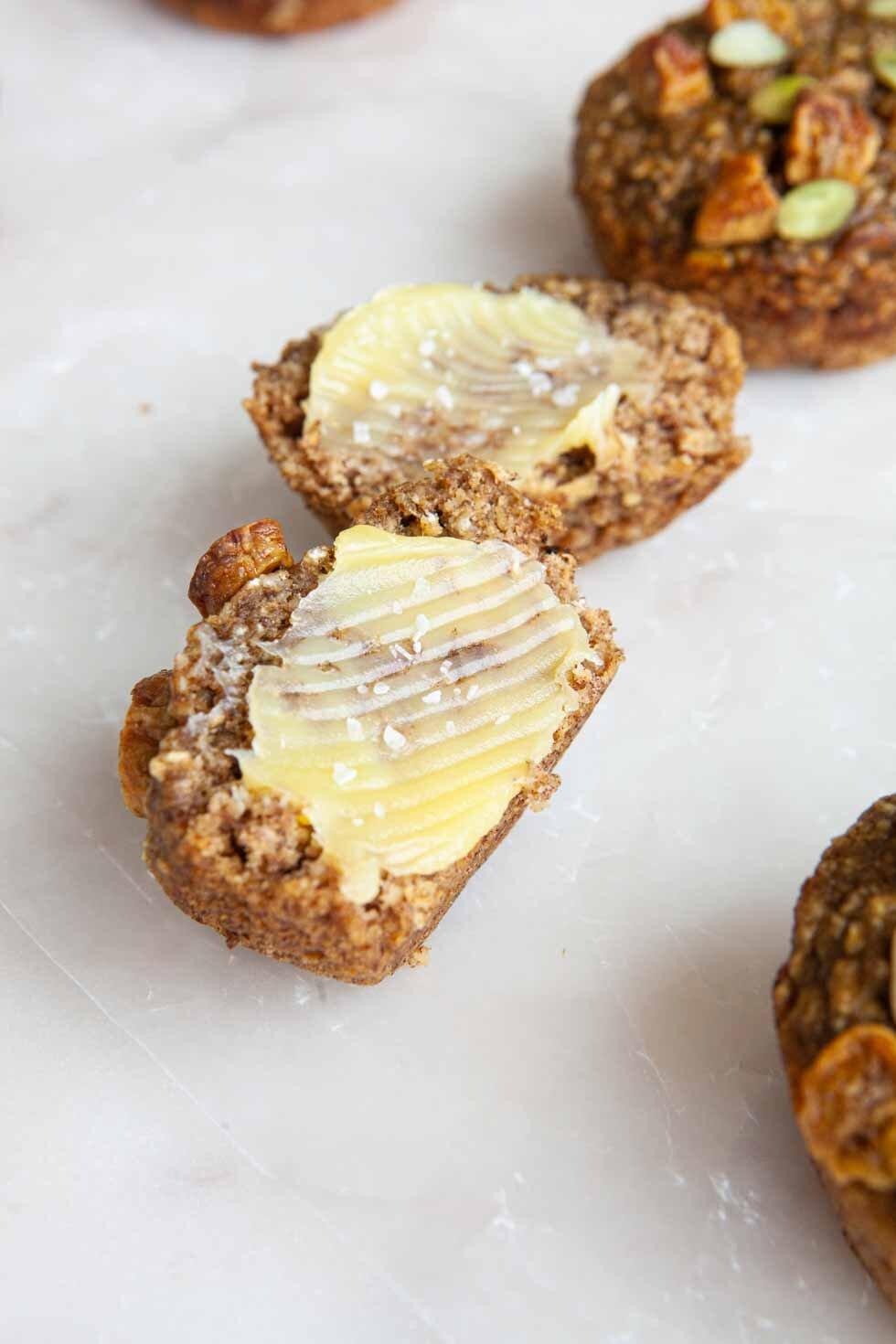 Banana Date Muffins