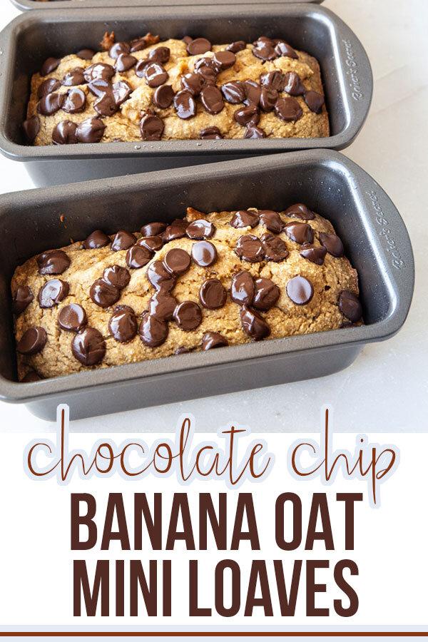 Chocolate Chip Banana Oat Bread