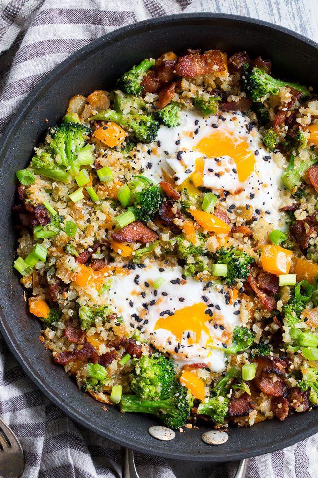 Breakfast Fried Cauliflower Rice