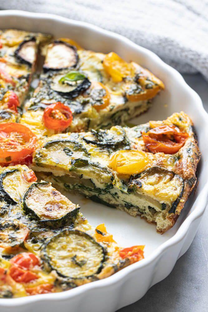 Crustless Garden Vegetable Quiche
