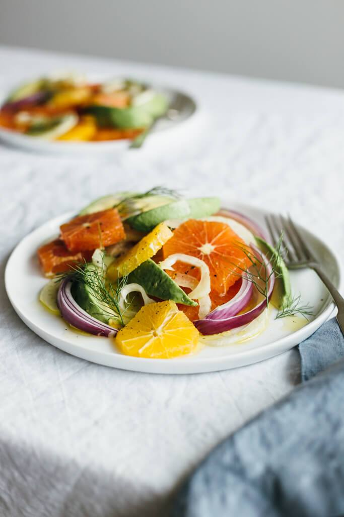Orange Fennel and Avocado Breakfast Salad