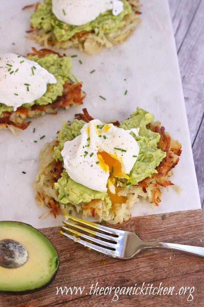 "Potato Avocado ""Toast"" with Perfectly Poached Eggs"