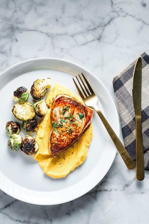 Swordfish with Golden Beet Parsnip Puree