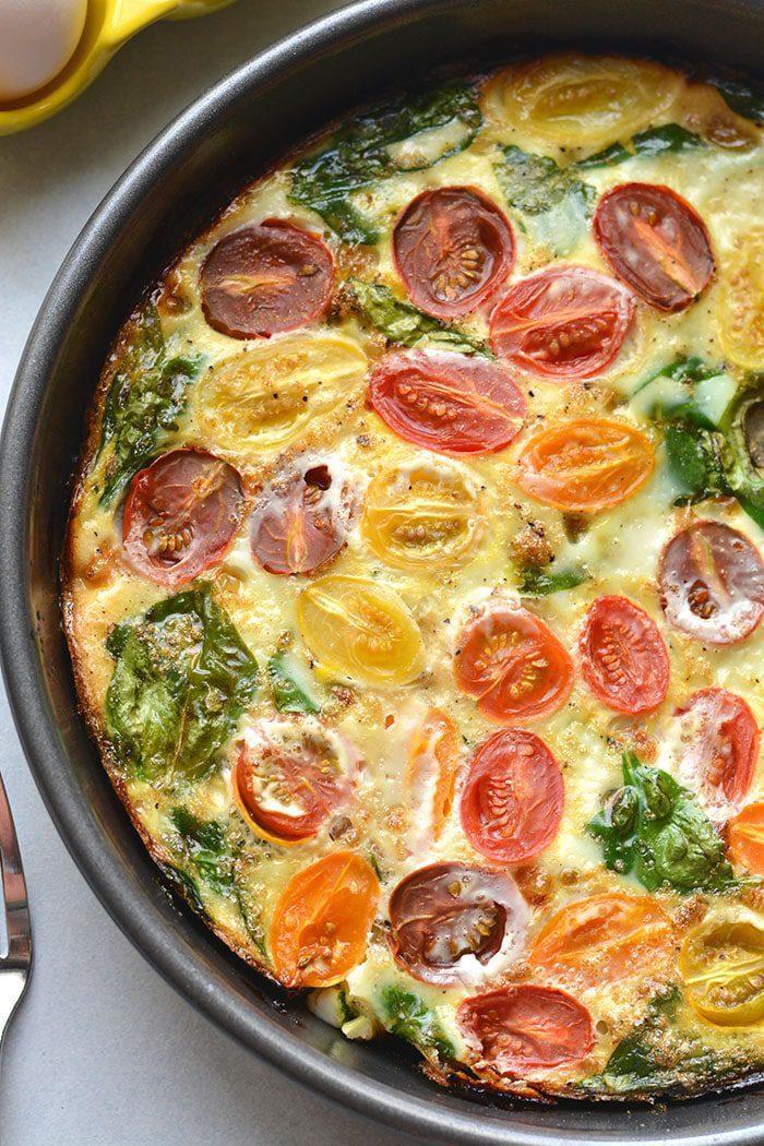 Tomato Spinach Egg White Frittata