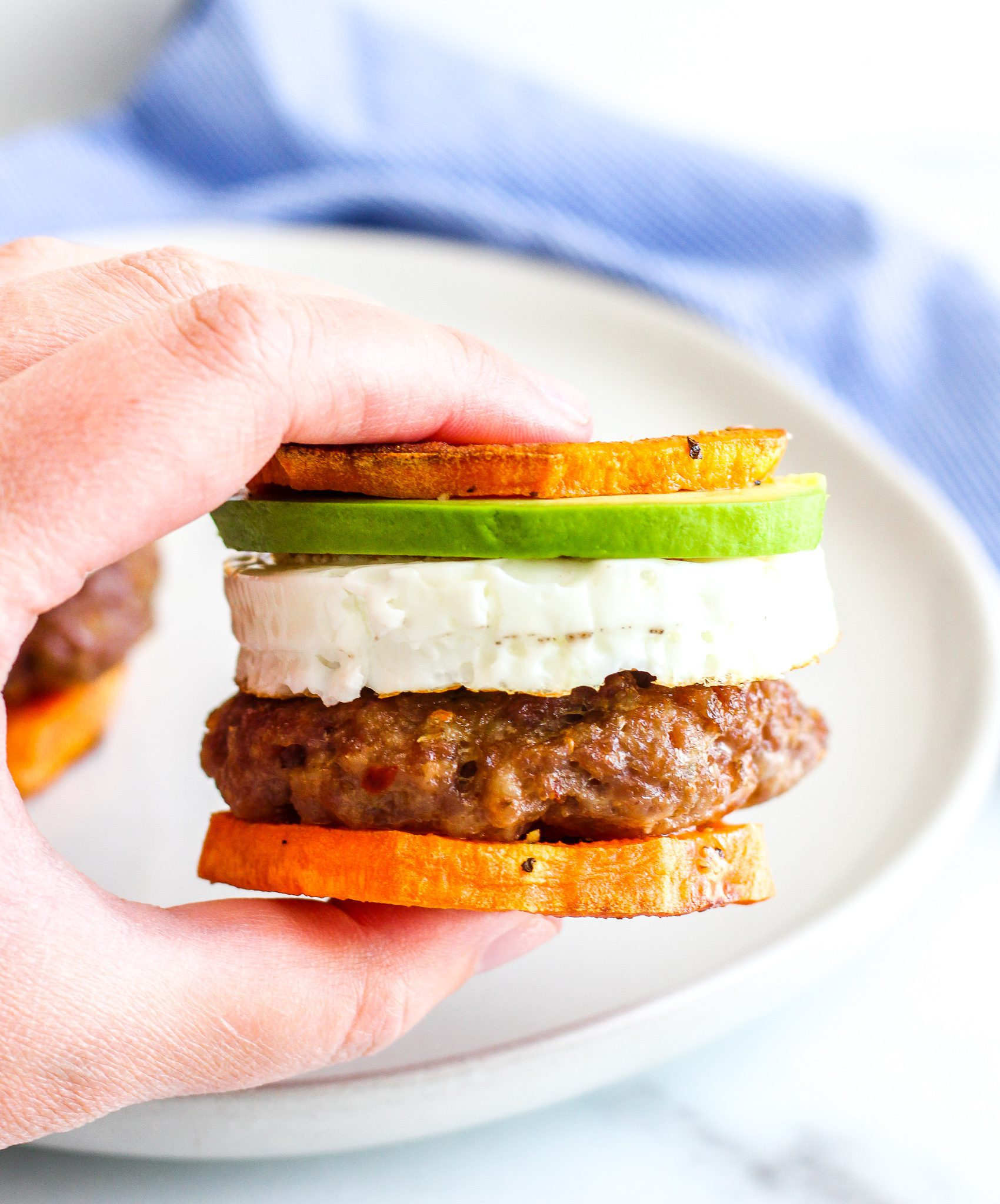 Whole30 Sausage Egg Breakfast Sandwiches